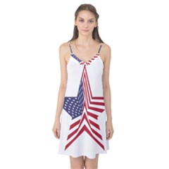 A Star With An American Flag Pattern Camis Nightgown