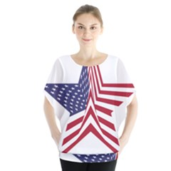 A Star With An American Flag Pattern Blouse
