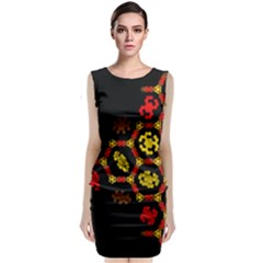 Algorithmic Drawings Classic Sleeveless Midi Dress