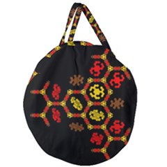Algorithmic Drawings Giant Round Zipper Tote