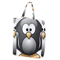 Penguin Birds Aquatic Flightless Giant Grocery Zipper Tote