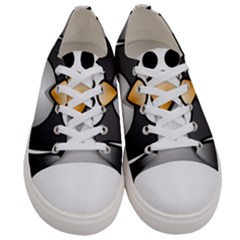 Penguin Birds Aquatic Flightless Women s Low Top Canvas Sneakers