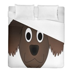 Dog Pup Animal Canine Brown Pet Duvet Cover (full/ Double Size) by Nexatart