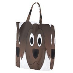 Dog Pup Animal Canine Brown Pet Giant Grocery Zipper Tote