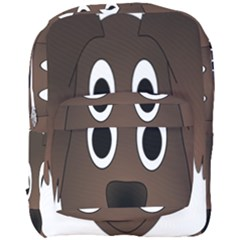 Dog Pup Animal Canine Brown Pet Full Print Backpack