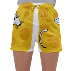 Rat Mouse Cheese Animal Mammal Sleepwear Shorts
