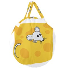 Rat Mouse Cheese Animal Mammal Giant Round Zipper Tote