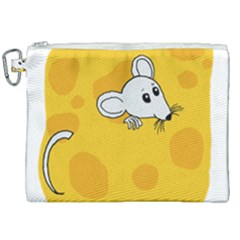 Rat Mouse Cheese Animal Mammal Canvas Cosmetic Bag (xxl) by Nexatart