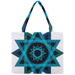 Transparent Triangles Mini Tote Bag by Nexatart