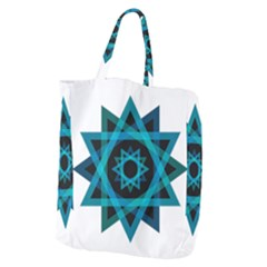 Transparent Triangles Giant Grocery Zipper Tote