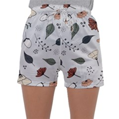 Grey Toned Pattern Sleepwear Shorts
