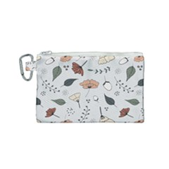 Grey Toned Pattern Canvas Cosmetic Bag (small)
