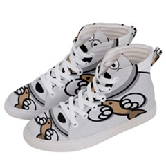 Bear Polar Bear Arctic Fish Mammal Women s Hi Top Skate Sneakers by Nexatart