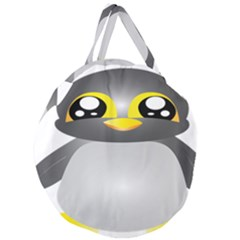 Cute Penguin Animal Giant Round Zipper Tote