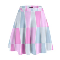 Geometric Pattern Design Pastels High Waist Skirt