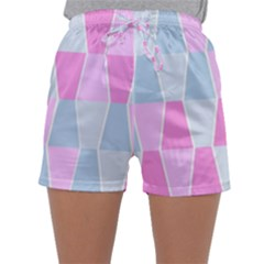 Geometric Pattern Design Pastels Sleepwear Shorts