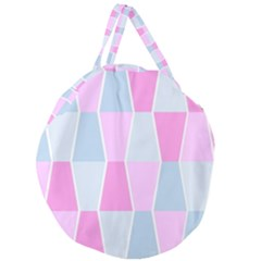 Geometric Pattern Design Pastels Giant Round Zipper Tote