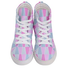 Geometric Pattern Design Pastels Women s Hi Top Skate Sneakers