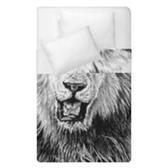 Lion Wildlife Art And Illustration Pencil Duvet Cover Double Side (single Size)