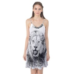 Lion Wildlife Art And Illustration Pencil Camis Nightgown