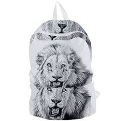 Lion Wildlife Art And Illustration Pencil Foldable Lightweight Backpack