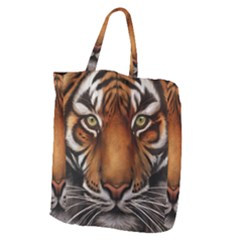 The Tiger Face Giant Grocery Zipper Tote