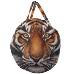 The Tiger Face Giant Round Zipper Tote