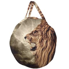 Roaring Lion Giant Round Zipper Tote
