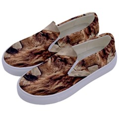 Roaring Lion Kids  Canvas Slip Ons by Nexatart