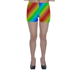 Background Diagonal Refraction Skinny Shorts