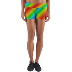 Background Diagonal Refraction Yoga Shorts