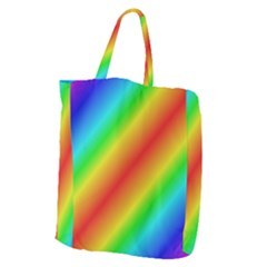 Background Diagonal Refraction Giant Grocery Zipper Tote