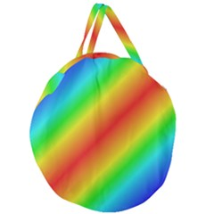 Background Diagonal Refraction Giant Round Zipper Tote