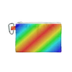 Background Diagonal Refraction Canvas Cosmetic Bag (small)