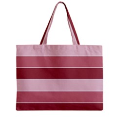 Striped Shapes Wide Stripes Horizontal Geometric Zipper Mini Tote Bag