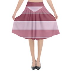 Striped Shapes Wide Stripes Horizontal Geometric Flared Midi Skirt by Nexatart