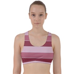 Striped Shapes Wide Stripes Horizontal Geometric Back Weave Sports Bra by Nexatart