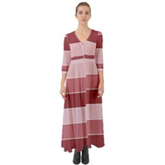 Striped Shapes Wide Stripes Horizontal Geometric Button Up Boho Maxi Dress by Nexatart
