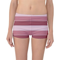 Striped Shapes Wide Stripes Horizontal Geometric Reversible Boyleg Bikini Bottoms
