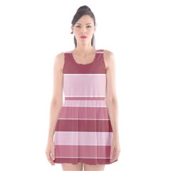 Striped Shapes Wide Stripes Horizontal Geometric Scoop Neck Skater Dress