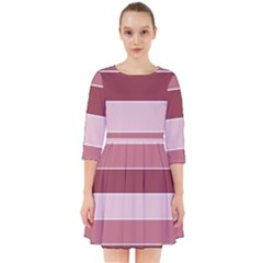 Striped Shapes Wide Stripes Horizontal Geometric Smock Dress