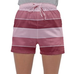 Striped Shapes Wide Stripes Horizontal Geometric Sleepwear Shorts