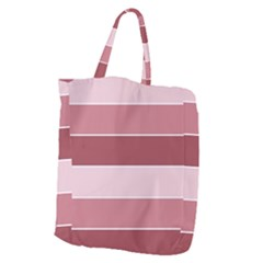 Striped Shapes Wide Stripes Horizontal Geometric Giant Grocery Zipper Tote