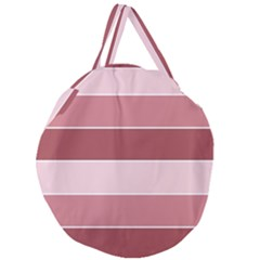 Striped Shapes Wide Stripes Horizontal Geometric Giant Round Zipper Tote