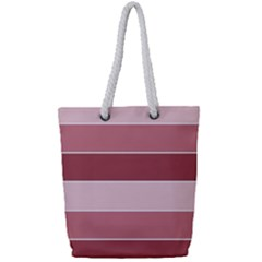 Striped Shapes Wide Stripes Horizontal Geometric Full Print Rope Handle Tote (small)