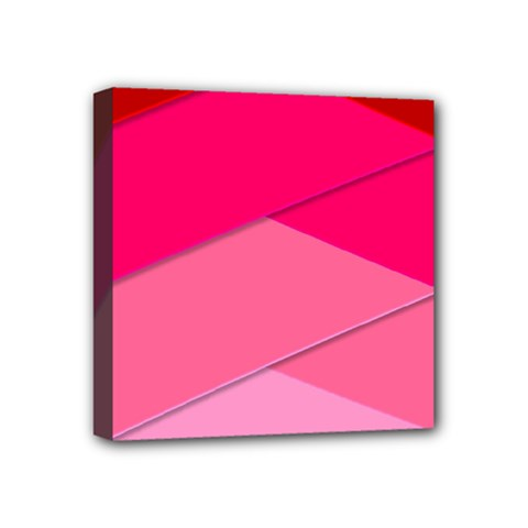 Geometric Shapes Magenta Pink Rose Mini Canvas 4  X 4  by Nexatart