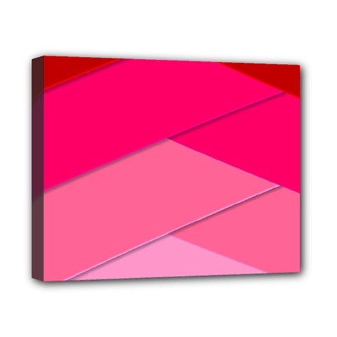 Geometric Shapes Magenta Pink Rose Canvas 10  X 8
