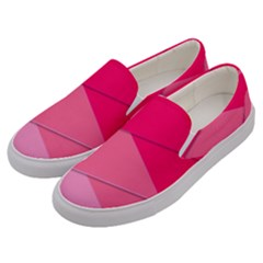 Geometric Shapes Magenta Pink Rose Men s Canvas Slip Ons by Nexatart