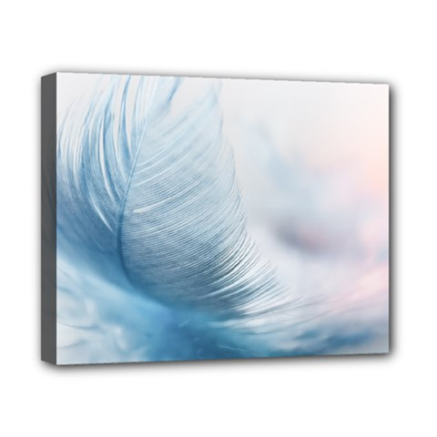 Feather Ease Slightly Blue Airy Canvas 10  X 8