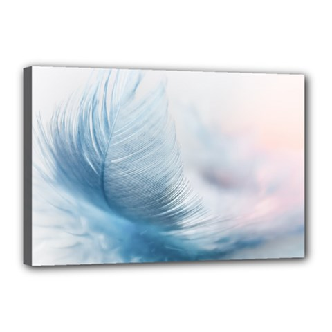 Feather Ease Slightly Blue Airy Canvas 18  X 12